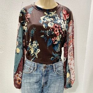 Ivy Jane mixed media top